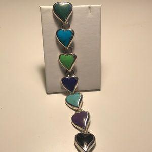 Ladies multicolor stone bracelet
